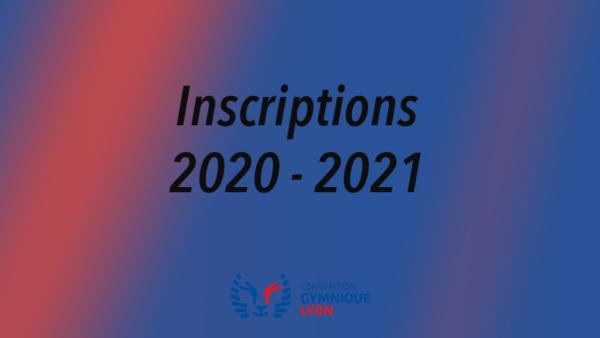 OUVERTURE DES INSCRIPTIONS 2020 / 2021